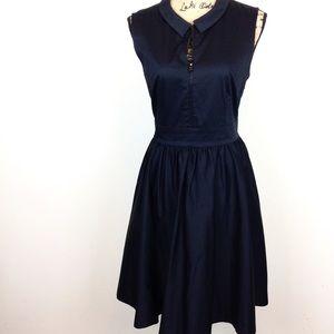 Kate Spade Peter Pan Collar Fit & Flare Dress 8@